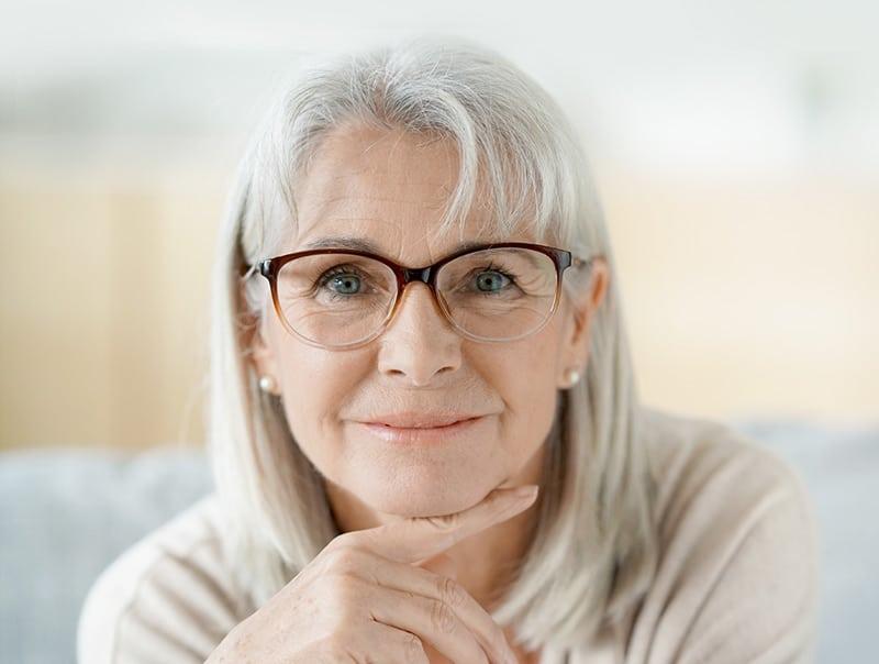 Senior Woman Subtle Smile