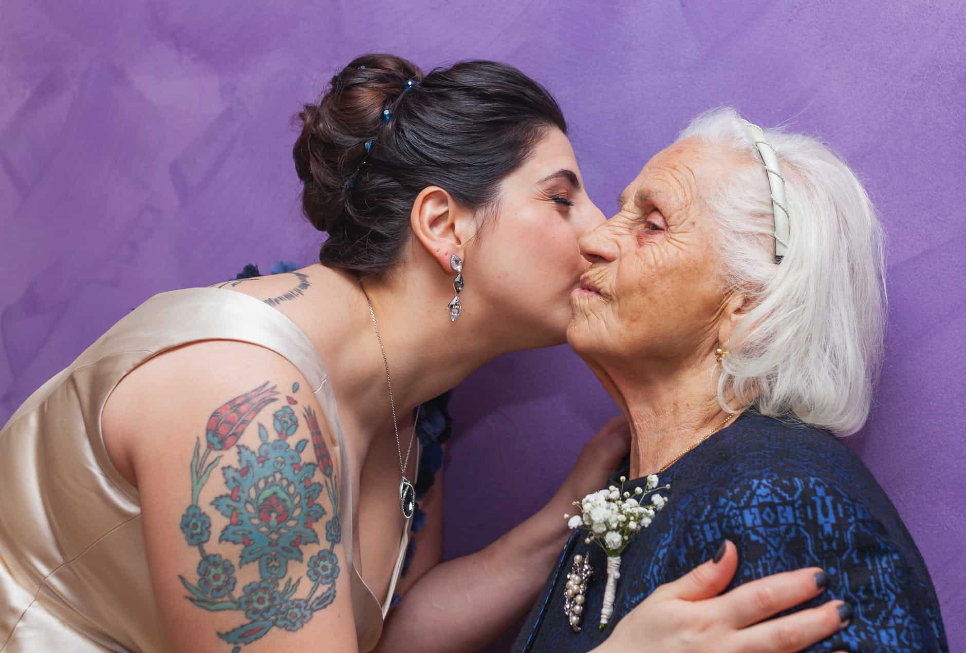grandaughter with her grandmother